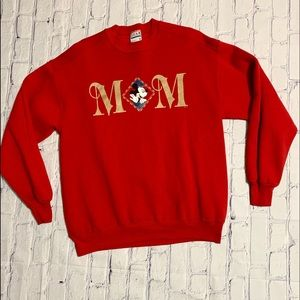 Vintage Mickey Mouse Mom Crewneck Sweatshirt XL